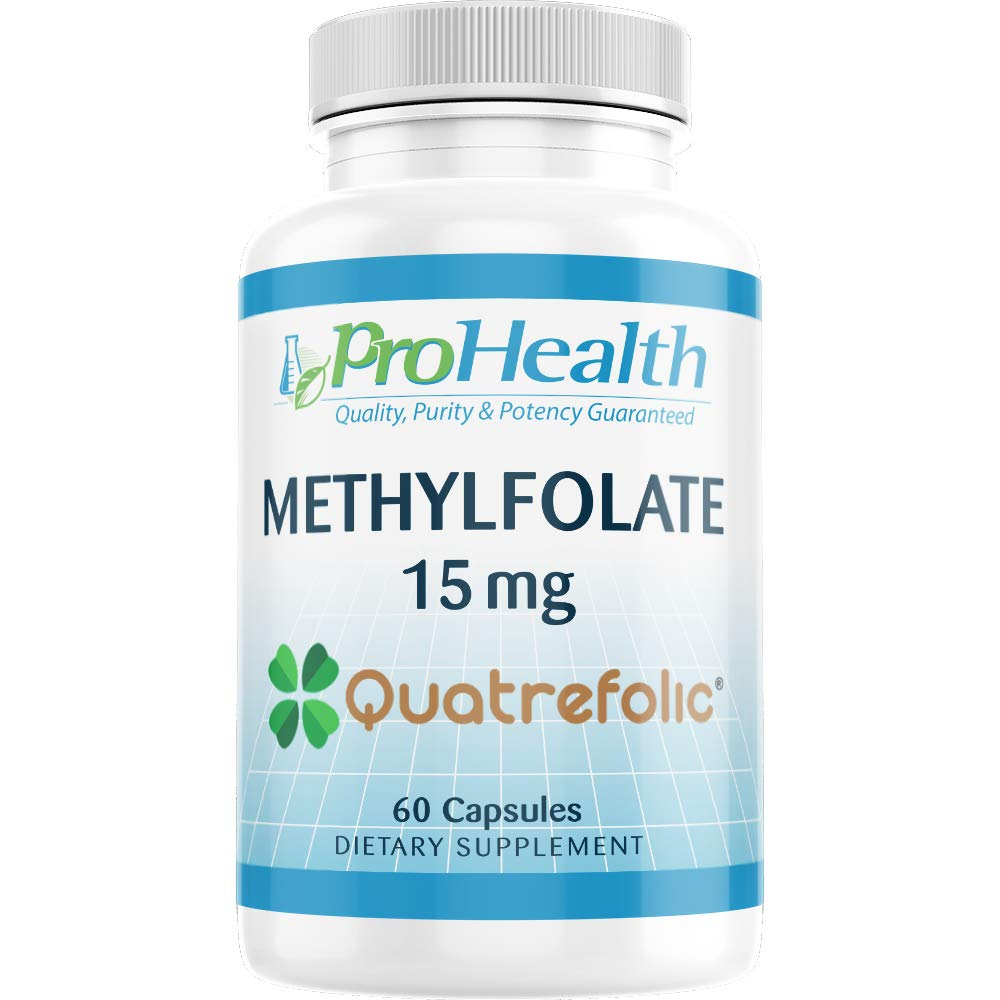 ProHealth Methylfolate with Gnosis Quatrefolic (15 mg, 60 Capsules) Professional Strength Active Folate by ProHealth