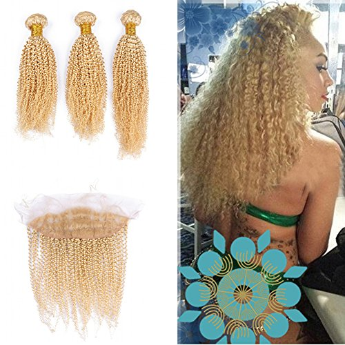 Cloud-Hair-Blench-Blonde-613-Ear-To-Ear-Frontal-With-Kinky-Curly-Human-Hair-3Bundles-Russian-Hair-Weft-With-Frontal-Closure-With-Baby-Hair