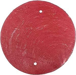 Vie Naturals Capiz Shell Discs 5cm Diameter With 2 holes - 45 Pcs -Red