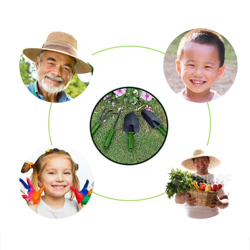 Allzweck-Weeder-Gartenwerkzeug-Set Garden Kit Garten-Geschenkwerkzeug-Set zum Graben von Unkraut j/äten Lockerung der Bodenbel/üftung Kimmyer 4-teiliges Gartenwerkzeug-Set