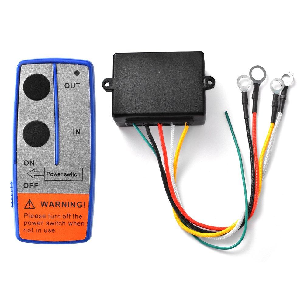 XCSOURCE Heavy Duty 12V Wireless Electric Winch + Remote Control Switch Handset for UTV Car JEEP ATV SUV Truck BI569