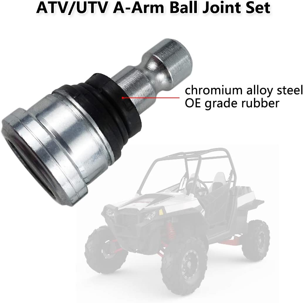 4PCS Replacement OE 7061220 7081924 7061187 42-1037 Ball Joints ATV//UTV A-Arm Front Ball Joint Set Upper and Lower Fits for Polaris Ranger Crew Sportsman Scrambler RZR 800 900