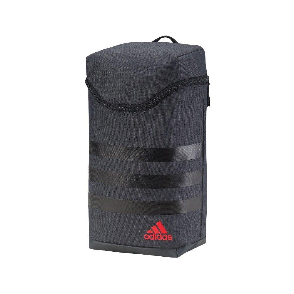 buy popular 21668 de728 adidas Men s 3 Stripes Shoe Bag - Dark Grey Black Scarlet, One Size   Amazon.co.uk  Luggage