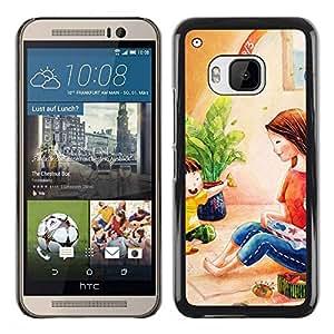 PC/Aluminum Funda Carcasa protectora para HTC One M9 Kids Girl Pastel Mother / JUSTGO PHONE PROTECTOR