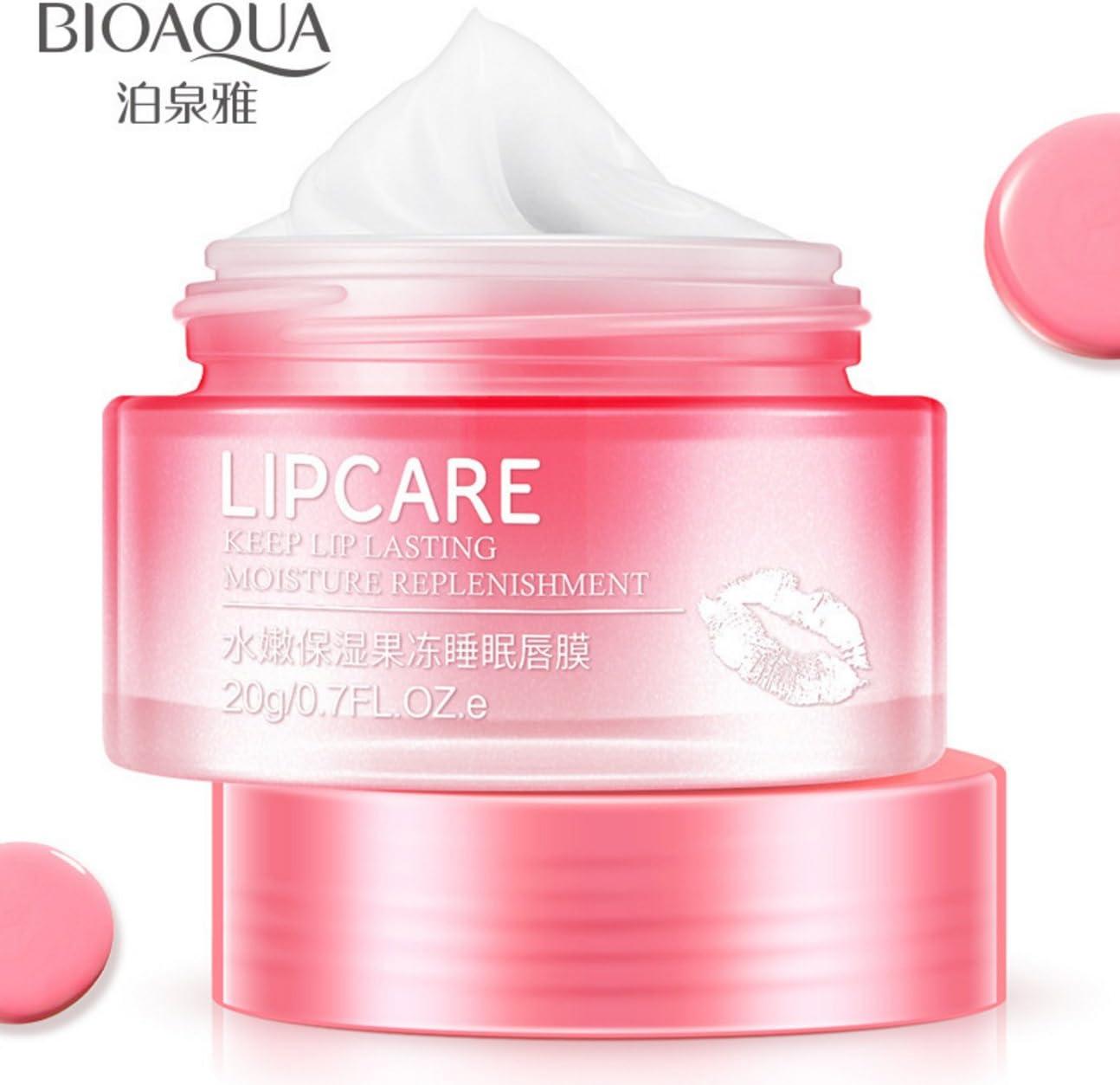 BIOAQUA Lip Lasting Collagen Replenisment Sexy Delicious Water Balance Nutrition Moisturizing Soft Beautiful Skin Vitamin E Mask-Jelly 20g