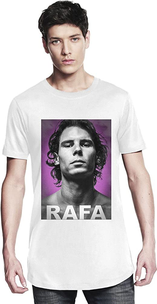 Rafael Nadal Portrait Long T-shirt Large: Amazon.es: Ropa y accesorios