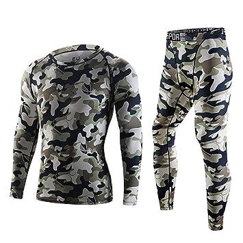 OPPP Set de Ropa Térmica para Los pantalones de invierno de la ropa interior de los