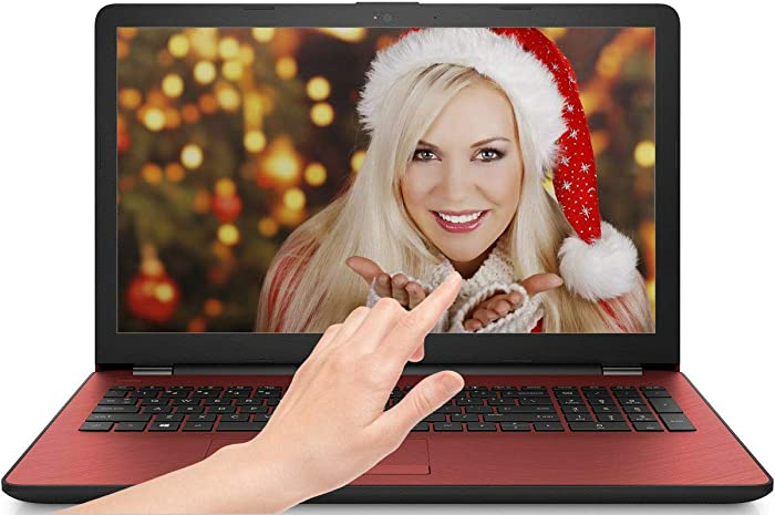HP Flyer Red 15.6 Inch Touchscreen Laptop Intel Pentium Gold Processor N4417U 2.30 GHz 4GB RAM, 500GB Hard Drive, DVD Drive, HD Webcam, Windows 10 Home) (Renewed)
