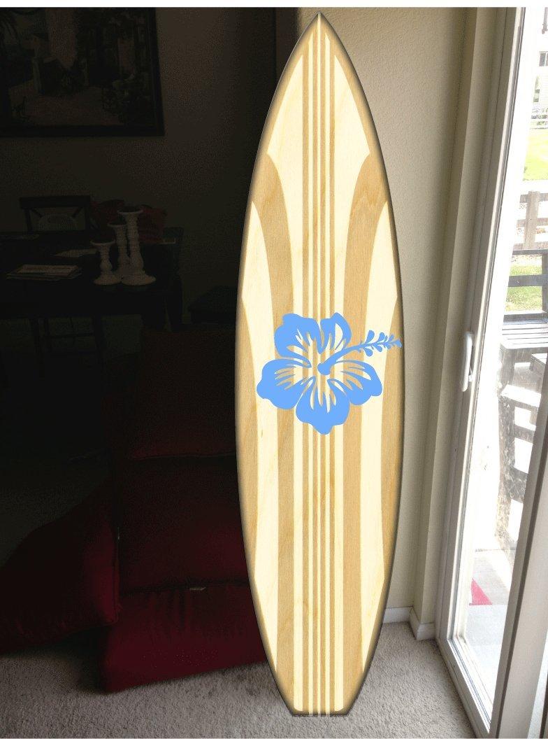 wall hanging surf board surfboard decor hawaiian beach surfing beach decor