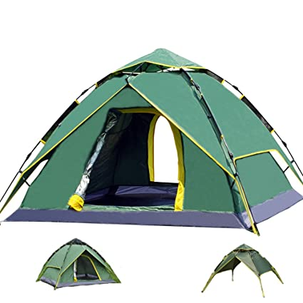 BaiYouDa 3-4 Person Instant C&ing Tent Dual Layer 210D Oxford cloth 3 Season Backpacking  sc 1 st  Amazon.com & Amazon.com : BaiYouDa 3-4 Person Instant Camping Tent Dual Layer ...
