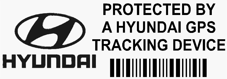 5/x pphyundaigpsblk GPS Schwarz Tracking Ger/ät Sicherheit Fenster Aufkleber 87/x 30/mm-car Van Alarm Tracker