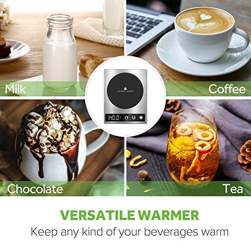 COSORI Premium 24Watt Stainless Steel Mug, Best Gift Idea, Office/Home Use Electric Cup Beverage Warmer Plate Coffee Accessories with LED Backlit Display for Tea,Water,Cocoa,Milk by COSORI (Image #3)