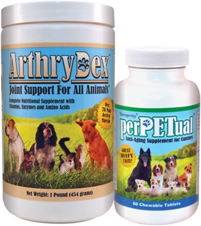 HEALTHY PET COMBO PAK – 1 Arthrdex 1 lb. 1 PerPetual 60 chewables