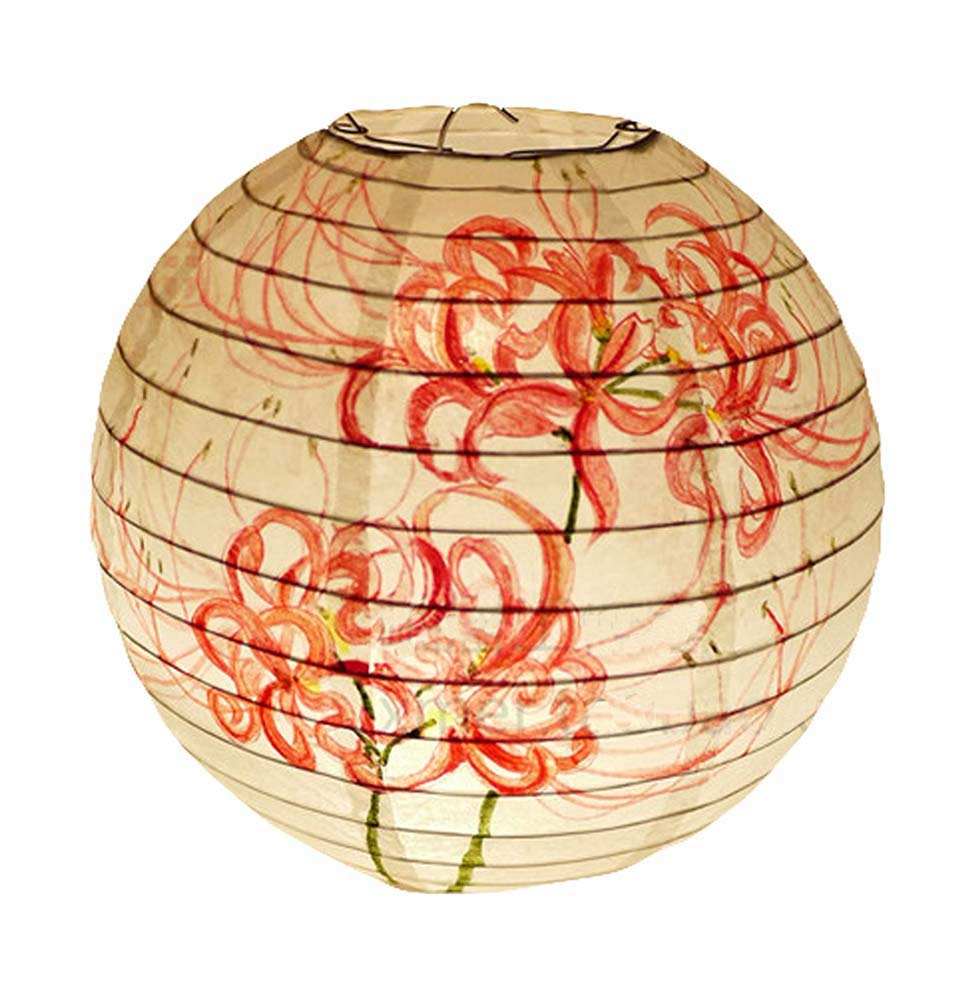 Handmade Paper Lantern Chinese Style Traditional Hanging Lampshade Decorative Home Garden
