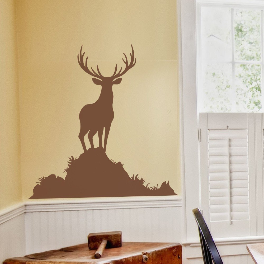 Amazon.com: Buck Wall Decal Animal Wall Sticker Vinyl Deer Wall ...