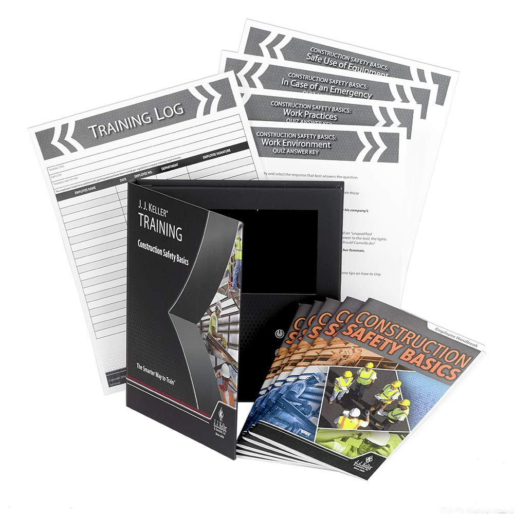 Construction Safety Basics English Video Training Book- J. J. Keller & Associates - High-Level Overview of Many Safety topics: Slips, Trips, Falls, PPE, Electrical Safety, Loto, HAZWOPER & More