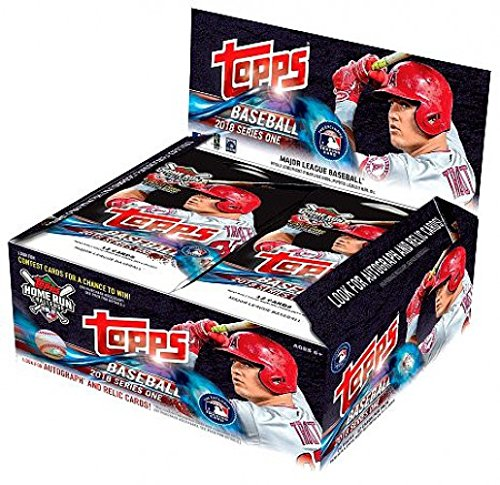 Rare Topps Baseball Cards - 2018 Topps Baseball Series 1 Factory Sealed 24 Pack Box