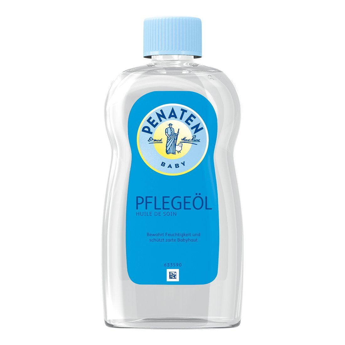 Penaten Pflege-Öl 500ml – Pflegendes Körperöl zur sanften Pflege und Reinigung von empfindlicher Babyhaut – Bewahrt Feuchtigkeit (1 x 500ml) 64686