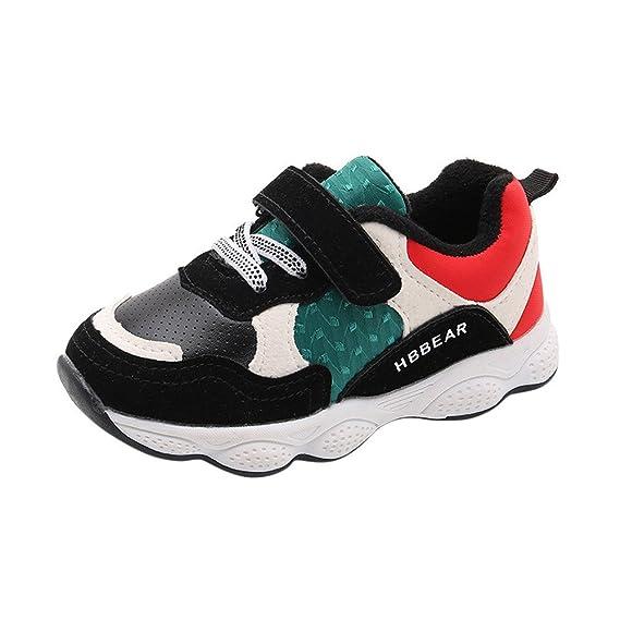 YanHoo Zapatos para niños Zapatillas niño y niña Zapatillas de Deporte Deportivas para niños pequeños Antideslizante Zapatos de otoño e Invierno Zapatos ...
