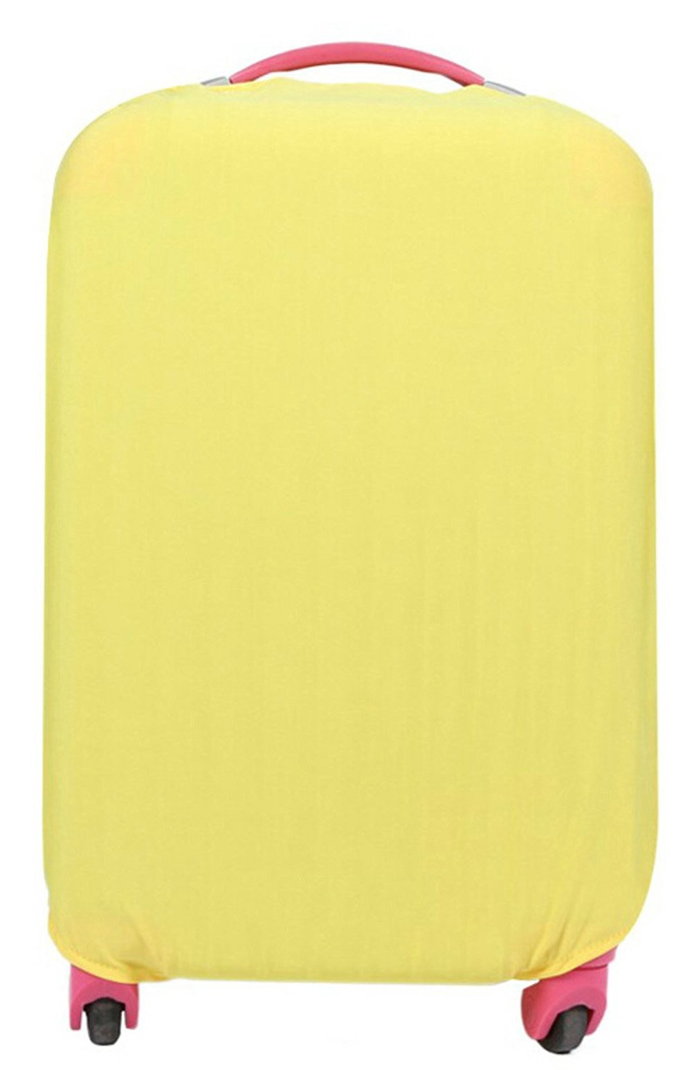 Fanyuan Spandex Travel Luggage Cover Fits (S (18-20 Inch Luggage), Yellow)