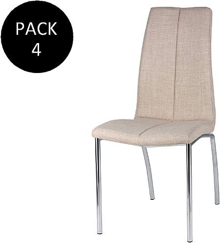 EHKA HOME Pack de 4 Sillas Juno Beige: Amazon.es: Hogar