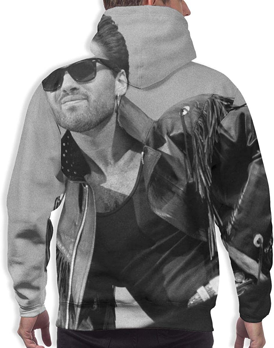 Dfmdfng George Michael Quick Dry Mens Fashion Pullover Hooded Sweatshirt