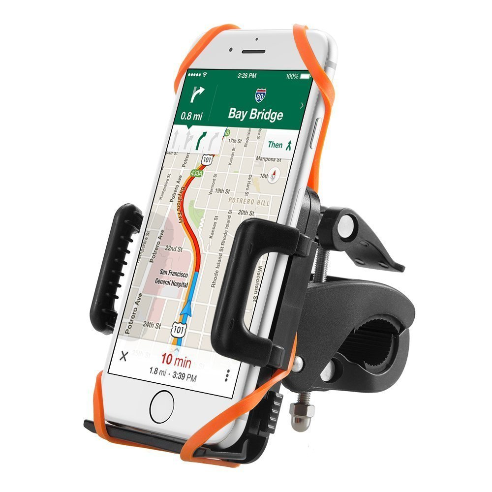 TaoTronics Handyhalterung Fahrrad Smartphone Handyhalter Fahrrad Verstellbar fü r iPhone iPhone X/XS/Max 8/7/7Plus 6S/6S Plus 6/6Plus 5S/4S Galaxy S5/S4/S3 TT-SH013R DE