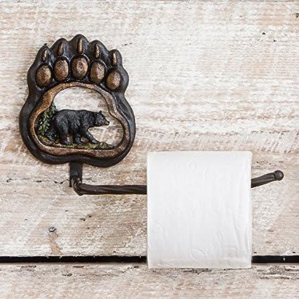 Amazoncom Bear Paw Wilderness Toilet Paper Lodge Holder Lodge - Outdoor themed bathroom decor