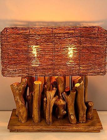 PF Reflector moderno modelo de lámpara de mesa de madera ...
