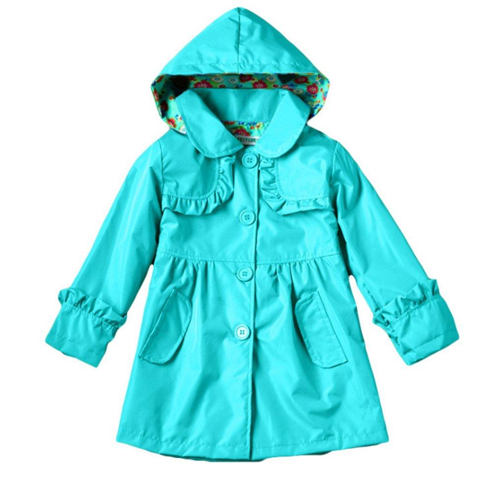 Mädchen Regenmantel Kinder Süß Prinzessin Regenjacke mit Kapuze Wasserdicht Jacke Regenmantel Rot Grün