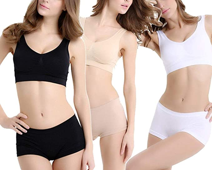 a873056238 Image Unavailable. Image not available for. Colour  ALBATROZ Pack of 3  Women s Clothing Lingerie Set Air Bra Non- Padded ...