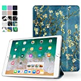 TNP iPad Air 2 Case - Slim Lightweight Shell Smart Cover Stand, Hard Back Protection with Auto Sleep Wake for Apple iPad Air 2 (Almond Blossom - Van Gogh)