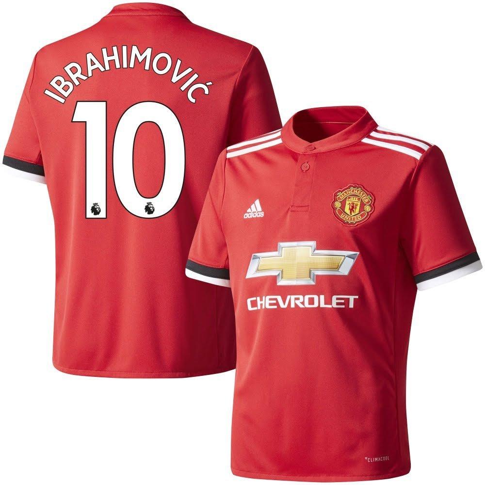 Man Utd Home Trikot 2017 2018 + Ibrahimovic 10 - L