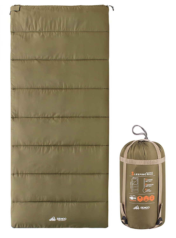 Semoo techo saco de dormir - ligero compacto Saco de dormir ideal para Primavera y Verano - 190 x 84 cm/1kg - Varios colores a elegir, verde oliva: ...