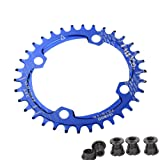 UPANBIKE Bike Bicycle Narrow Wide Oval Single Chainring BCD 104mm 34T Blue (Color: blue, Tamaño: 34T)