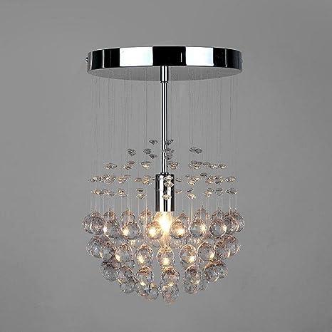 Moderno Diseño Cromo plateado Luz de techo Suspensión ...