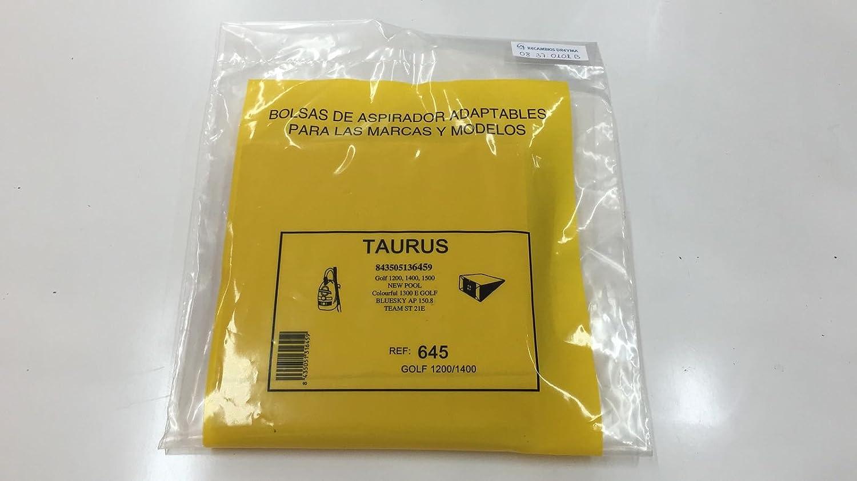 RECAMBIOS DREYMA Bolsas Papel Aspirador SOLAC, Taurus 5 ...