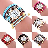 COOKI Womens Bracelet Watches Clearance Ladies Watches Leather Female Watches on Sale Cheap Watches-Q9