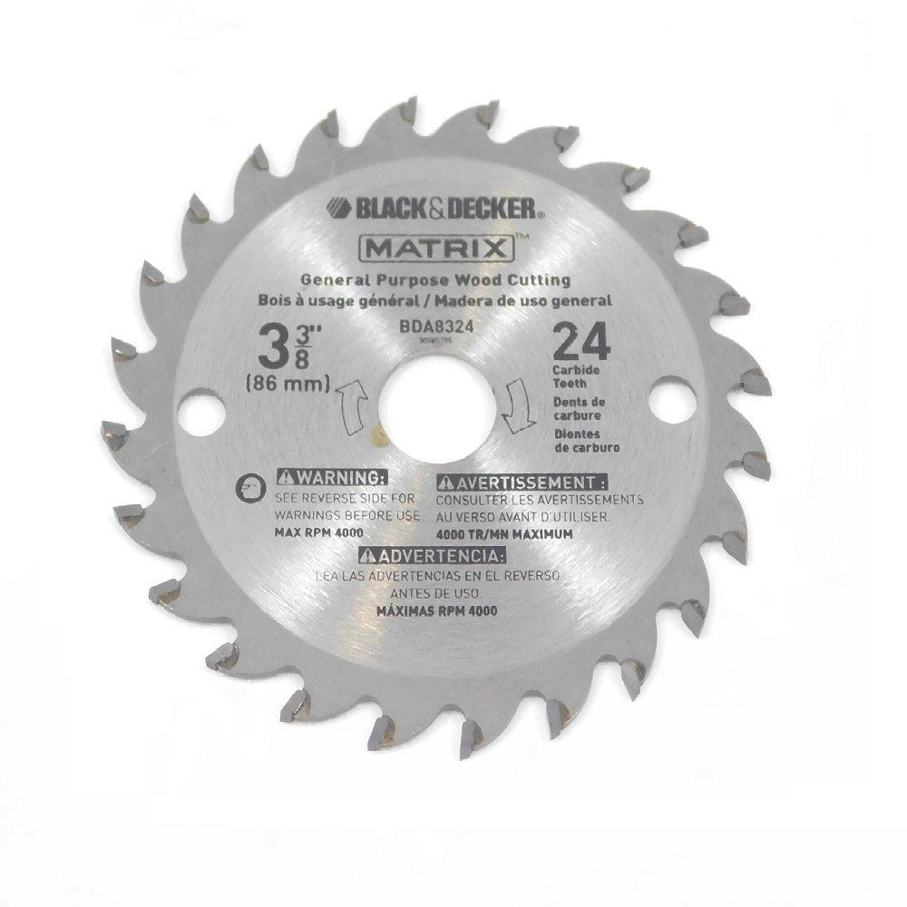 """Black & Decker BDCMTTS Matrix Saw (2 Pack) Replacement 3-3/8"""" 24t Carbide Blade # 90585148-2pkl"""