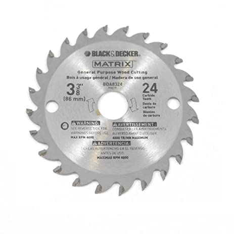 Black decker bdcmtts matrix saw replacement 3 38 24t carbide black decker bdcmtts matrix saw replacement 3 38quot 24t carbide blade greentooth Choice Image
