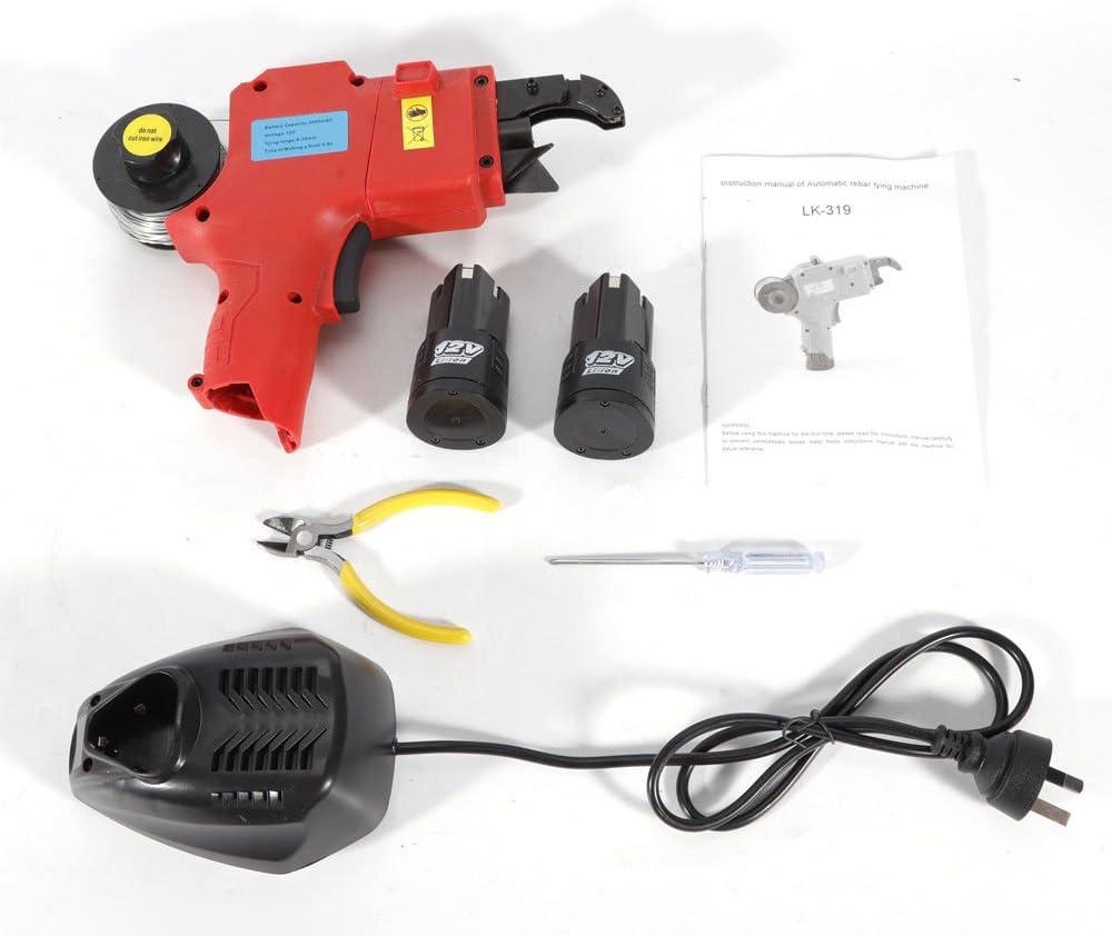 fil: 8/–34/mm Oukaning Portable automatique armatures attacher machine batterie Plus l/éger Barre en acier Tige attacher de reliure Outil Vigne Tier vert