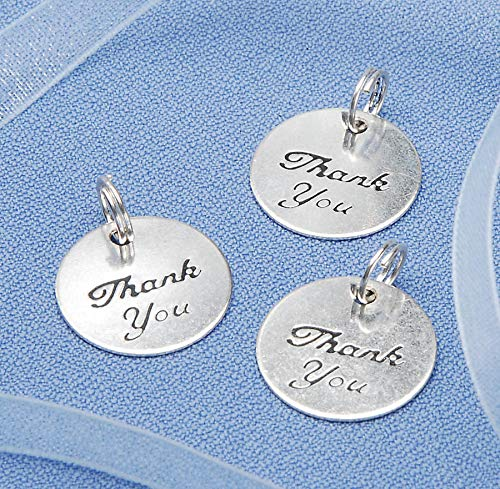 Darice Charms - Thank You - Silver - Round - 20 pieces