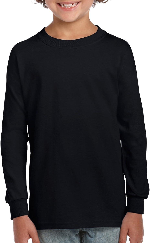 Gildan Kids' Ultra Cotton Youth Long Sleeve T-Shirt, 2-Pack: Clothing