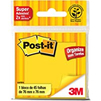 Bloco de Notas Super Adesivas Post-it Amarelo Neon 76 mm x 76 mm - 45 folhas