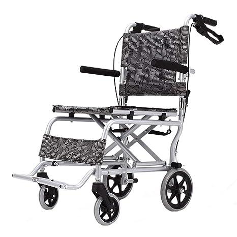 Sillas de ruedas Aeronave Scooter Anciano Plegable Carro portátil para discapacitados Puede soportar 100 kg (
