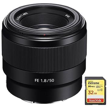 Sony FE 50 mm f1.8 Lente con Montura Tipo E Prime de ...