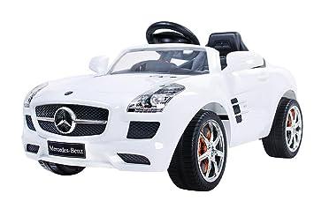Car Mercedes Electric Sls Car White Benz Car Bambini Car Bambini 0OPk8nw