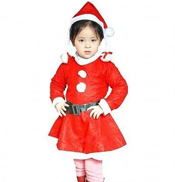 bf457876f038d (バハギア) Bahagia 女の子 子供 クリスマス サンタ 衣装 ( ワンピース 帽子 ベルト 3点 セット