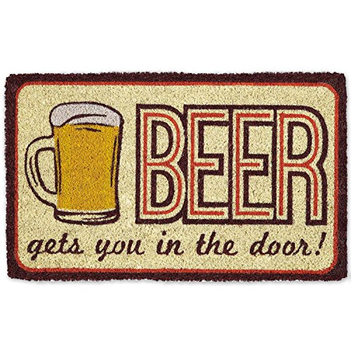 atural Coir Easy Clean Rubber Non Slip Backing Entry Way Doormat For Patio, Front Door, All Weather Exterior Doors, 18 x 30 - Beer (Beer Mats)