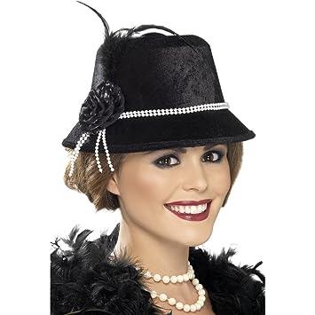871b15f56a66b Sombrero años 20 estilo charlestón accesorios gorros vestuario  complementos  Amazon.es  Juguetes y juegos